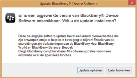 BlackBerry Leap - Software - Installeer firmware update - Stap 6