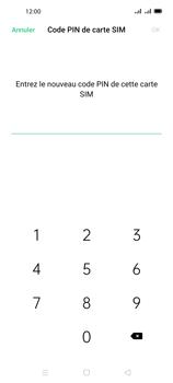 Oppo A72 - Sécuriser votre mobile - Personnaliser le code PIN de votre carte SIM - Étape 10