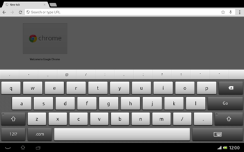 Sony Xperia Tablet Z LTE - Internet and data roaming - Using the Internet - Step 6