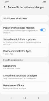 Samsung Galaxy S9 - Android Pie - Startanleitung - So aktivieren Sie eine SIM-PIN - Schritt 6