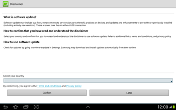 Samsung Galaxy Tab 2 10.1 - Software - Installing software updates - Step 8