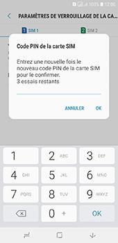 Samsung Galaxy A6 - Sécuriser votre mobile - Personnaliser le code PIN de votre carte SIM - Étape 11