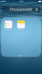 Apple iPhone 5s - iOS 8 - Startanleitung - Personalisieren der Startseite - Schritt 5