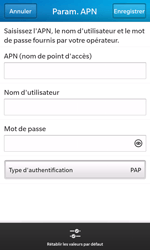 BlackBerry Z10 - Internet et roaming de données - Configuration manuelle - Étape 8