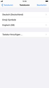 Apple iPhone 7 Plus - iOS 14 - Startanleitung - So fügen Sie eine Tastatursprache hinzu - Schritt 8