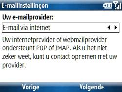 Samsung C6620 - E-mail - handmatig instellen - Stap 9