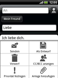 HTC A3333 Wildfire - E-Mail - E-Mail versenden - Schritt 11
