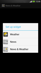 HTC One - Getting started - Installing widgets and applications on your start screen - Step 6