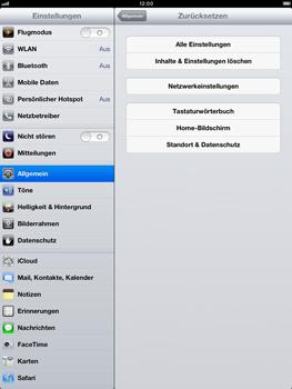Apple iPad Retina - Gerät - Zurücksetzen auf die Werkseinstellungen - Schritt 6