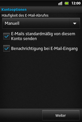 Sony Xperia Go - E-Mail - Konto einrichten - Schritt 13