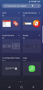 Samsung Galaxy S8 - Prise en main - Installation de widgets et d