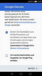 Huawei P9 - Apps - Konto anlegen und einrichten - 0 / 0