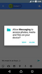 Sony Xperia XA (F3111) - Android Nougat - MMS - Sending pictures - Step 10