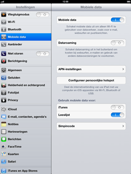 Apple iPad 4 - Internet - Uitzetten - Stap 4