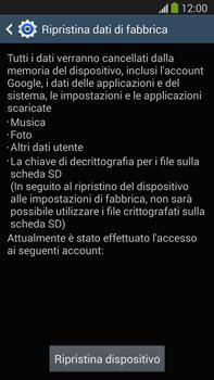Samsung Galaxy Note III LTE - Dispositivo - Ripristino delle impostazioni originali - Fase 8