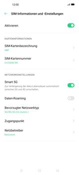 Oppo Find X2 Pro - Netzwerk - So aktivieren Sie eine 5G-Verbindung - Schritt 8