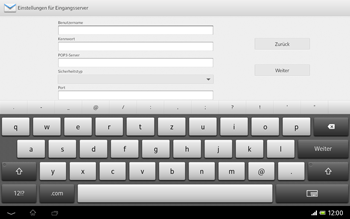 Sony Xperia Tablet Z LTE - E-Mail - Manuelle Konfiguration - Schritt 9