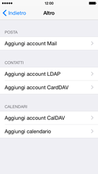 Apple iPhone 5c - iOS 8 - E-mail - configurazione manuale - Fase 6