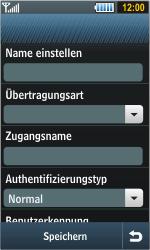 Samsung Jet - Internet - Manuelle Konfiguration - 2 / 2