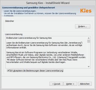 Samsung Galaxy Ace III - Software - Installieren von Software zur PC-Synchronisierung - Schritt 5