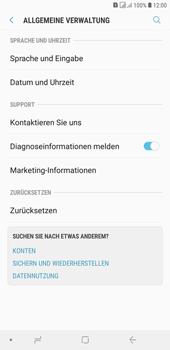 Samsung Galaxy J4+ - Fehlerbehebung - Handy zurücksetzen - Schritt 7