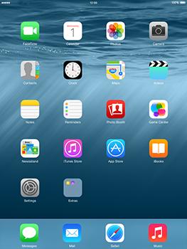 Apple iPad mini - iOS 8 - Internet and data roaming - Using the Internet - Step 2