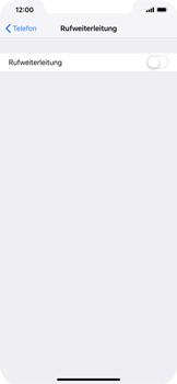 Apple iPhone XS Max - Anrufe - Rufumleitungen setzen und löschen - Schritt 5