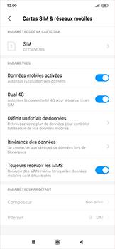 Xiaomi RedMi Note 7 - Internet et roaming de données - Désactivation du roaming de données - Étape 4