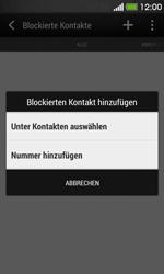 HTC Desire 500 - Anrufe - Anrufe blockieren - 6 / 11