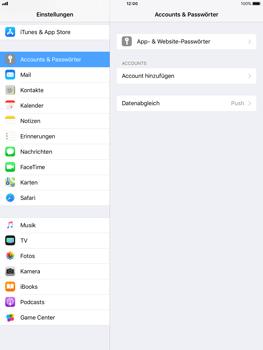 Apple iPad mini 2 - iOS 11 - Anmeldedaten hinzufügen/entfernen - 4 / 13