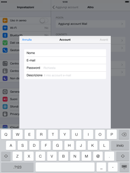 Apple iPad Air - E-mail - configurazione manuale - Fase 8