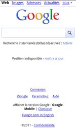 HTC S510e Desire S - Internet - navigation sur Internet - Étape 4