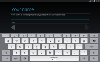 Samsung T805 Galaxy Tab S - Applications - Setting up the application store - Step 6