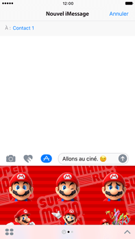Apple Apple iPhone 6 Plus iOS 10 - iOS features - Envoyer un iMessage - Étape 22