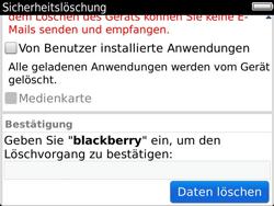 BlackBerry Bold Touch - Fehlerbehebung - Handy zurücksetzen - 12 / 13