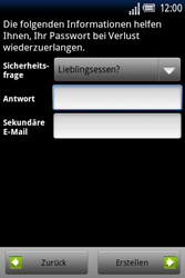 Sony Ericsson Xperia X8 - Apps - Konto anlegen und einrichten - Schritt 12
