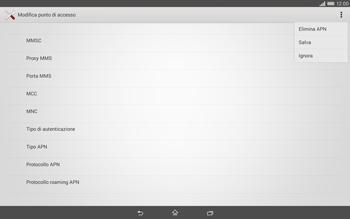 Sony Xperia Tablet Z2 LTE - MMS - Configurazione manuale - Fase 15