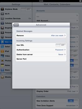 Apple iPad 2 - E-mail - Manual configuration - Step 14