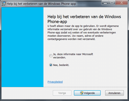 Nokia Lumia 920 LTE - Software - Download en installeer PC synchronisatie software - Stap 5
