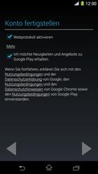 Sony Xperia Z1 - Apps - Konto anlegen und einrichten - Schritt 17