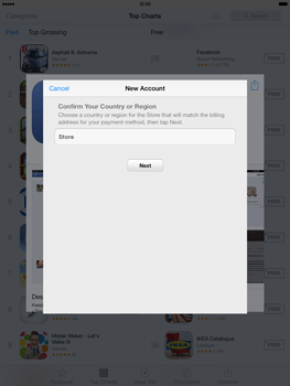 Apple iPad mini retina - Applications - setting up the application store - Step 8
