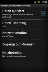 Sony Xperia E - Ausland - Im Ausland surfen – Datenroaming - Schritt 8
