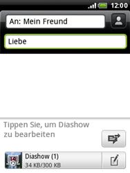 HTC A3333 Wildfire - MMS - Erstellen und senden - Schritt 20