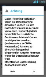 LG Optimus L7 II - Ausland - Im Ausland surfen – Datenroaming - 9 / 12