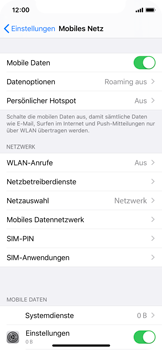 Apple iPhone 11 Pro - Internet und Datenroaming - Manuelle Konfiguration - Schritt 5
