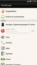 HTC One X Plus - Gerät - Zurücksetzen auf die Werkseinstellungen - Schritt 4
