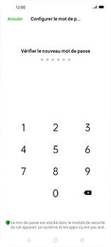 Oppo Find X2 Neo - Sécuriser votre mobile - Activer le code de verrouillage - Étape 9