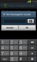 Samsung I8190 Galaxy S III Mini - Messagerie vocale - Configuration manuelle - Étape 6