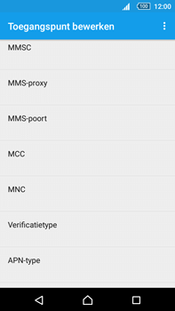 Sony E6853 Xperia Z5 Premium - MMS - handmatig instellen - Stap 11