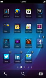 BlackBerry Z10 - Getting started - Personalising your Start screen - Step 6